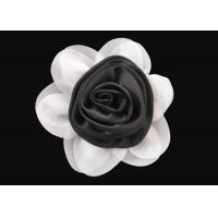 Wholesale Brilliant Black and White Fabric Flower Wrist Corsage Lovely for Dress And Hat from china suppliers