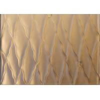 Buy cheap 15mm Carved Lanmination Glass Decorative Panels For Wall / Privacy Room from wholesalers