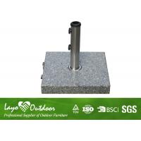 Wholesale Stand Alone Granite Umbrella Base , Outdoor Umbrella Stand Holder Light Weight from china suppliers