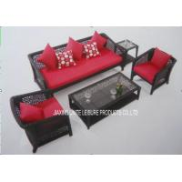 Wholesale Backyard Patio Wicker Furniture Sets With Cushion For Conversation Seating from china suppliers