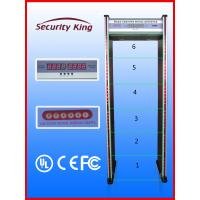 Wholesale Double Infrared Waterproof Metal Detector Gate , 6 Zones Metal Detectors at Airports from china suppliers
