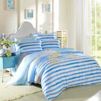 Wholesale Kids Bedroom Home Bedding Sets Environmentally Friendly Blue / Black And White Striped Bedding from china suppliers