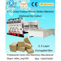 Wholesale Carton Flexo Ink 2 Colors Printer / Semi Automatic Printing Slotting Machine from china suppliers
