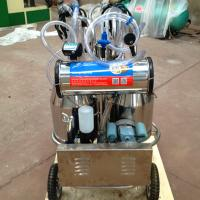 Wholesale Double Buckets Mobile Milk Pump Machine / Portable Milking Machine 25L * 2 from china suppliers
