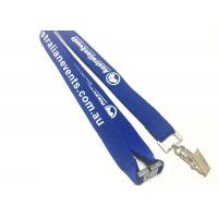 Quality Metal Clip Safety Custom Breakaway Lanyards Woven Printed For Sports Game for sale