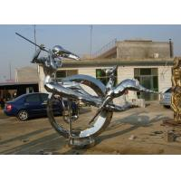 Wholesale Modern Abstract Stainless steel Figure Sculpture for urban decoration from china suppliers