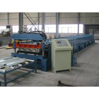 Wholesale Mitsubishi PLC Metal Cold Roll Forming Equipment For Deck , Roll Forming Line from china suppliers