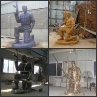 Wholesale Beautiful Cast Brass Soldier Statue Sculpture from china suppliers
