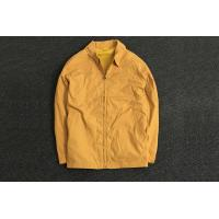 Classic Durable Yellow Polyester Coat Jacket Oversize / Men's Casual Jackets for sale