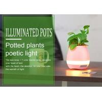Quality Fashionable Music Illuminated Plant Pots with Piano Sound Music , Bluetooth Glowing Flower Pots for sale