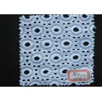 Wholesale Pure White Cotton Eyelet Crochet Lace Trim Elastic , Embroidery Lace Trim from china suppliers