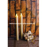 Wholesale Flameless LED Taper Candles With Dripping Effect, Ivory Wax Set Of 2 from china suppliers