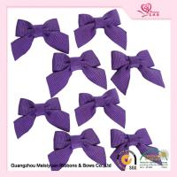 Wholesale Decorative Mini Ribbon bows Purple Grosgrain Ribbon For Garment from china suppliers