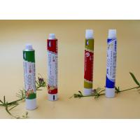 Quality Round Aluminum Collapsible Tubes ,  Recyclable Toothpaste Tube Packaging for sale