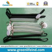 Wholesale Chinese Factory Wholesale Black Clear Spring Coiled Keychain Leash from china suppliers