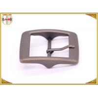 Wholesale Plain Design Brass Plated Metal Belt Buckle , Central Bar Buckle with Pin from china suppliers