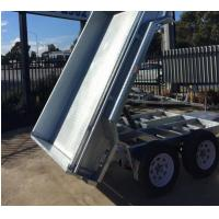 Wholesale 10x6 Hot Dipped Galvanised Tipper Trailer , Tandem Axle Tipping Trailer 3200kg Load from china suppliers