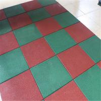 Wholesale Solid color recycled rubber flooring tile playground outdoor park mat from china suppliers