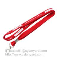 Wholesale Tube polyester lanyard with metal sheet crimping, 3/8 inch tubular neck straps from china suppliers