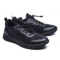 Wholesale Cool Looking All Black Running Shoes Mens , Supportive Gym Shoes EU 39-46 Size from china suppliers