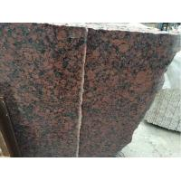 Wholesale Waterproof Garmen Red Granite Bathroom Vanity Tops with undermount sink OEM from china suppliers