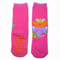 Quality Kid's socks/flat socks with ABS dots for sale