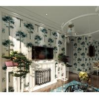 Wholesale Eco-friendly Suede Wallpaper 0.53*10M Beautiful Tress Living Room Wallcovering Latest from china suppliers