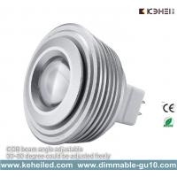 Wholesale High Lumen Telescope 5W MR16 COB LED Spotlights Bulbs from 30 to 80 degree from china suppliers