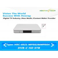 Wholesale Irony DVB C HD Set Top Box Support PVR Advertisment 8MB FLASH With USB HDMI from china suppliers
