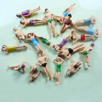 Wholesale HO Scale 1:75 Painted Architectural Scale Model People Beach Swimming Figures Vary Pose from china suppliers