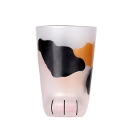 China Cat Paw Print Coffee Drinking 260ml Personalized Glass Cup on sale
