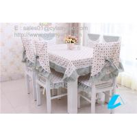 Wholesale Wholesale floral cotton tablecloth and chair cover set for six seater dining table, from china suppliers