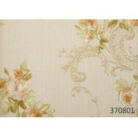 Wholesale Modern Style Vinyl Embossed Wallpaper For Restaurant Decoration , Floral Pattern from china suppliers