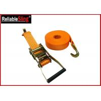 Wholesale Yellow Ratchet Tie Down Strap 3000lbs Rated Capacity with Flat Snap Hooks from china suppliers