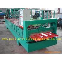 Wholesale High Speed Glazed Tile Cold Roll Forming Machine 0 - 20 m/min Red Roofing Panel or Customized from china suppliers