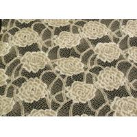 Wholesale Eco-Friendly Brushed Lace Fabric Yellow , Garment Trimming Anti-Static Material CY-LQ0039 from china suppliers