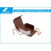 Wholesale CMYK Printing Folding Packing Boxes , Ribbon Closure Cardboard Packaging Boxes from china suppliers