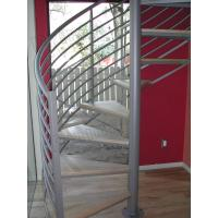 high quality prefabricated spiral staircase / outdoor metal spiral stairs