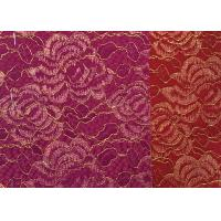 Wholesale Red Golden Embroidery Sequin Lingerie Lace Fabric For Wedding Dress , Decoration Lace Fabric from china suppliers