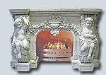 Wholesale Home decoration elegant natural indoor carved marble fireplace from china suppliers
