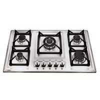 Wholesale Glass Top / Stainelss Steel Kitchen Gas Hobs 5 Burner With Anto Pulse Ignition from china suppliers