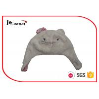 Wholesale Cat Shape Berber Fleece Ladies Trapper Hat With Floral Print Cotton Lining from china suppliers