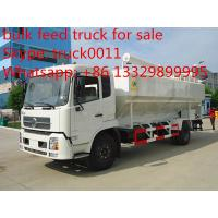 Wholesale Dongfeng 4x2 bulk feed delivery truck, hydraulic/eletronic discharge from china suppliers