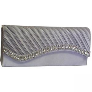 2012 hot style of shiny pu heart shape clutch evening bag