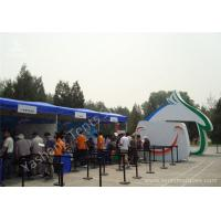 Wholesale Blue PVC Cover UV Resistant  Fabric Tent Structure Aluminum Alloy Frame from china suppliers