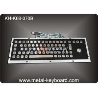 Wholesale IP65 Black Metal Computer Industrial Keyboard with Stainless steel Trackball from china suppliers