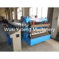 Wholesale 18 - 26 Metal Roller Station Roof Panel Machine , Hydraulic Decoil Roof Tile Forming Machine from china suppliers
