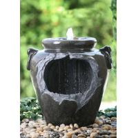 "Quality Chinese Style Jar Asian Water Fountains , Outdoor Cascading Water Fountains 18"" for sale"