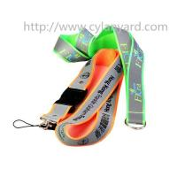 Wholesale Safety visible reflective lanyard ribbon, visible at night, reflective strap lanyards, from china suppliers