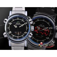 Wholesale Male LCD Date Dual Time Wrist Watches Stopwatch With Big Face from china suppliers